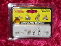 Woodland Scenics A2179 N GONE FISHING FIGURES People z