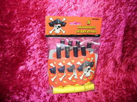 PIRATE PARTY FAVORS 8 BLOW OUTS PIRATE SKULL DESIGN Pirates Blowout Favor New r