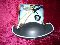 PIRATE HAT PLAY SET SWORD Eye Patch Pirates Costume i