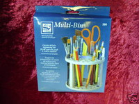 Loew Cornell MULTI BIN 49 Hole ORGANIZER Hobby Tools Brushes Crafts z