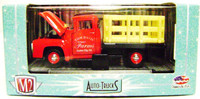 M2 Machines 1956 FORD F-100 STAKE TRUCK RED Auto Trucks S 1:64 Car z