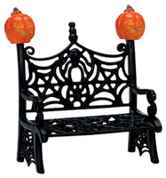 Lemax 74582 SPIDERWEB BENCH Spooky Town Accessory Retired Halloween Decor bcg
