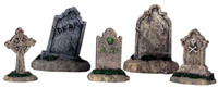 Lemax 44145 TOMBSTONES SET OF 5 Spooky Town Halloween Decor Accessories bcg