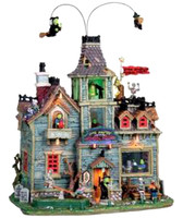 Lemax 05017 LITTLE MONSTERS' SCHOOL HOUSE Spooky Town Retired Building bcg