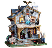 Lemax 05004 HAUNTED CABIN Spooky Town Halloween Retired Limited bcg
