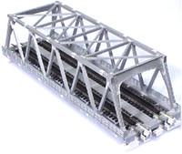 """Kato 20437 N UNITRACK DOUBLE TRUSS BRIDGE 9 3/4"""" SILVER Train bcg"""