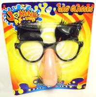 GAG GLASSES Nose Mustache FUZZY Eye Brows Funny New z