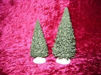 EVERGREEN TREES 2 Lemax Christmas Village S HO Scale Train Scenery z