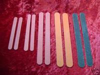 EMERY BOARDS 10 FINE COARSE 5 Assorted Nail Files New z