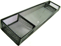 DESK ORGANIZER BLACK WIRE MESH 3 COMPARTMENTS Office Home Accessory Tray bcg