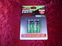 BATTERIES RECHARGEABLE Ni-MH AAA 4 Pack 1.2v 700 maH New z