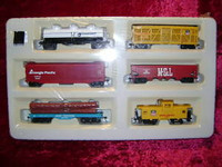 Bachmann HO Rolling Stock 6 TRAIN CARS UP Caboose Overland New z