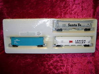 Bachmann HO 3 TRAIN CARS UP Santa Fe SF Lehigh Hopper Overland New z
