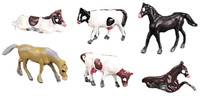 Bachmann 42505 N ANIMAL SET #1 COWS HORSES 12 Figures Scenery bcg