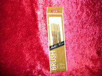 ARTISTS BRUSH SET 6 Pc DETAIL 10/0 5/0 0 1 Round Spotter White Nylon bcg