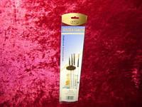 ARTISTS BRUSH SET 4 Pc DETAIL 10/0 5/0 3/0 0 Golden Taklon Brushes z