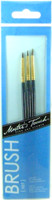 ARTISTS BRUSH SET 3 Pc Round 10/0 5/0 3/0 Great Detail Paint Brushes bcg i