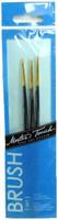 ARTISTS BRUSH SET 3 Pc 3/0 00 0 DETAIL GOLD NYLON Brushes Hobby Crafts 2/0 bcg i