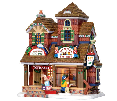 Lemax 25390 Geppetto S Toy Shop Vail Village Lighted