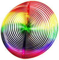 WIND TWISTER DECORATION CIRCLE Shaped Rainbow Colors Garden Decor Outdoors bcg