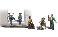 Woodland Scenics A2138 N HOBOS FIGURES People Bums Men Man Train Scenery bcg