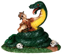 Lemax 02771 SNAKE IN THE GRASS Spooky Town Figurine Halloween Figure Retired bcg