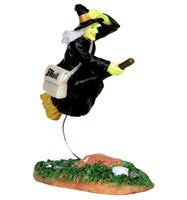 Lemax 42208 AIR MAIL Spooky Town Figurine Halloween Decor Witch Broom Figure bcg