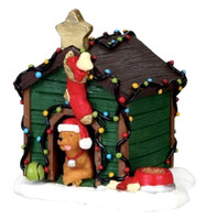 Lemax 02808 DECORATED LIGHT DOGHOUSE Christmas Village Accessories bcg