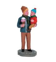 Lemax 62318 SHARING ICE-CREAM Figurine Christmas Village O G Scale Figure bcg