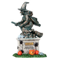 Lemax 04153 WITCH STATUE Spooky Town Accessories Halloween Decor Figurine bcg