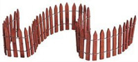 Lemax 84813 WIRED WOODEN FENCE Christmas Village Scenery S O G Scale bcg