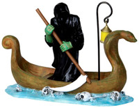 Lemax 22001 GHOSTLY SKIFF Spooky Town Figurine Retired Halloween Decor O G Scale bcg