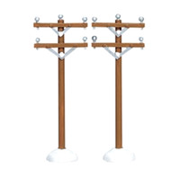 Lemax 64461 TELEPHONE POLES Set of 2 Christmas Village Decor Accessory S Scale bcg