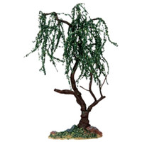 "Lemax 14372 GREEN WILLOW 9"" Large Tree Christmas Village Landscape S O Scale bcg"