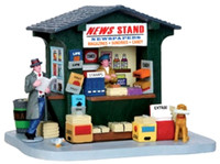 Lemax 43092 1950'S NEWS STAND Christmas Village Building Table Accent Decor bcg