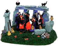 Lemax 74596 WITCHES' COVEN Spooky Town Table Accent Animated Halloween Decor bcg