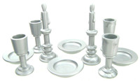 Playmobil 3666 Castle Parts House DINING TABLEWARE SET 10 Pc Plates Cup Candle bcg