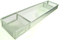 DESK ORGANIZER SILVER WIRE MESH 3 COMPARTMENTS Office Home Accessory Tray New bcg