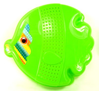 FISH SAND MOLD BEACH TOY Plastic Sandbox Sifter Sieve Outdoor Summer Fun bcg
