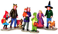 Lemax 42217 TRICK OR TREATING FUN Spooky Town Figurine Set Halloween Decor bcg