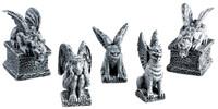 Lemax 52124 GARGOYLES Spooky Town Figurine Set of 5 Halloween Decor Accessory bcg