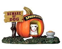Lemax 64053 PUMPKIN DOGHOUSE Spooky Town Accessories Halloween Decor bcg