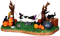 Lemax 44731 WITCHES' R & R Spooky Town Table Accent Animated Halloween Decor bcg