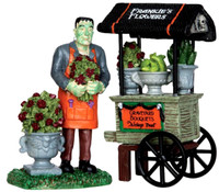 Lemax 32114 GRAVEYARD BOUQUETS Set of 2 Spooky Town Figure Halloween Decor bcg