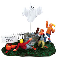 Lemax 73619 BE CAREFUL WHAT YOU WISH FOR Spooky Town Table Accent Village Retired Halloween Decor bcg