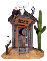 Lemax 82493 HAUNTED OUTHOUSE Spooky Town Accessory Retired Halloween Decor G bcg