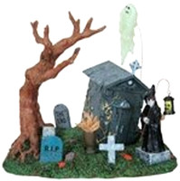 Lemax 83676 THE LOST SOUL Spooky Town Table Accent Retired Halloween Decor O G bcg