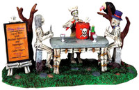 Lemax 93714 BONE APPETIT! Spooky Town Table Accent Retired Halloween Decor O G bcg