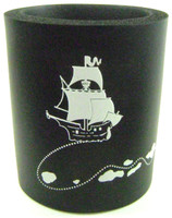 DRINK COOLER PIRATE SHIP SKULL BONES Cool Foam Insulator Cold Beer Soft Drinks bcg