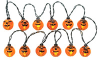 Lemax 24759 12 LIGHTED PUMPKIN GARLAND STRING Spooky Town Accessory Decor bcg